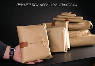 Шкіряний пояс під джинси колір коньяк з пряжкою №2, фото 3