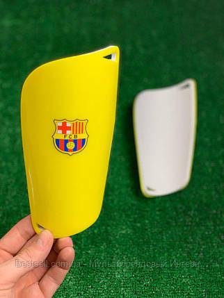 Щитки для футбола  Барселона  Желтые 1092, фото 2