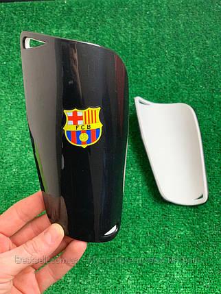 Щитки для футболу Барселона чорні 1093, фото 2