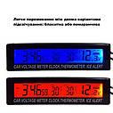 Часы автомобильные ZIRY EC-88 5-in-1 время, дата, напряжение, температура внешняя/внутренняя, фото 6