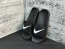 Сланцы мужские Nike черные (шлепки,шлепанцы) (40 последний размер), фото 2