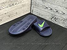 Сланцы мужские Nike синие (шлепки,шлепанцы), фото 2