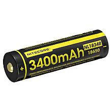 Акумулятор 18650 (3400mAh) Nitecore NL1834R, USB, захищений