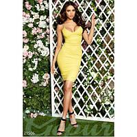 Платье миди на бретелях J (Желтый)