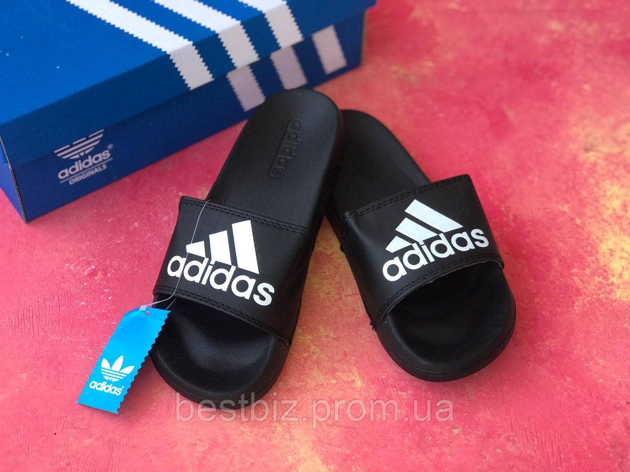 Шльопанці чоловічі чорні Adidas / Сланці / шльопанці / адідас