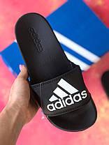Шлепанцы мужские черные Adidas / Сланцы / шлепки / адидас, фото 2