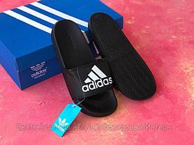 Шлепанцы мужские черные Adidas / Сланцы / шлепки / адидас, фото 3