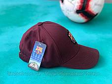 Бейсболка / кепка Барселона/FC Barcelona/мужская/женская/бордовая, фото 2