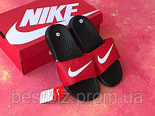 Шлепанцы мужские Nike черные с красным / Сланцы / шлепки Nike красные ( 41 последний размер ), фото 2
