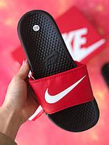 Шльопанці чоловічі Nike чорні з червоним / Сланці / шльопанці Nike червоні ( 41 останній розмір ), фото 3