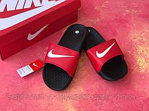 Шльопанці чоловічі Nike чорні з червоним / Сланці / шльопанці Nike червоні ( 41 останній розмір ), фото 2