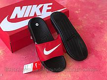 Шлепанцы мужские Nike черные с красным / Сланцы / шлепки Nike красные ( 41 последний размер ), фото 3