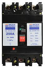Автоматичний силовий вимикач УКРЕМ ВА-2004N/250 3р 250А АСКО