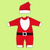 Новогодний костюм Санта , Костюм Деда Мороза для ребенка Футер с начесом!