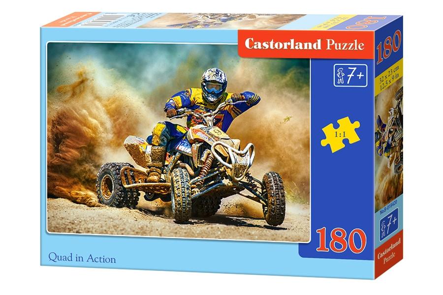 Пазлы Castorland на 180 элементов QUAD IN ACTION B-018420
