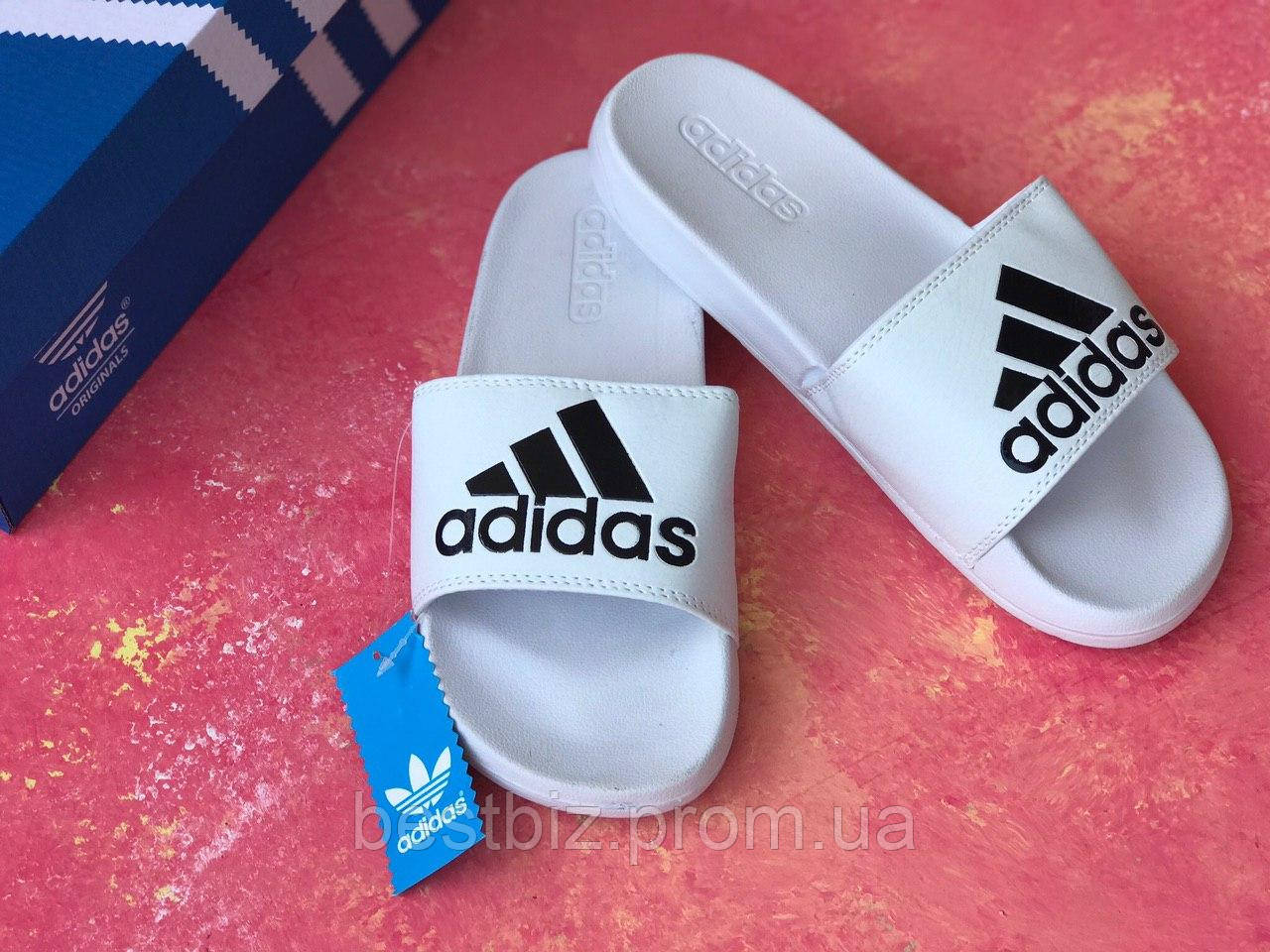 Шльопанці чоловічі білі Adidas / Сланці/шльопанці Adidas (білі) / адідас/