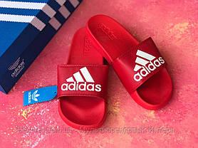 Шлепанцы мужские красные Adidas / Сланцы / шлепки / адидас, фото 3