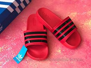 Шльопанці чоловічі крансые Adidas / Сланці /шльопанці /шльопанці адідас червоні, фото 2