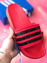 Шльопанці чоловічі крансые Adidas / Сланці /шльопанці /шльопанці адідас червоні, фото 3