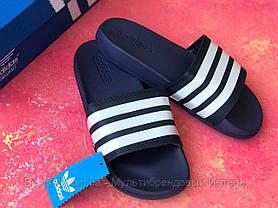 Шлепанцы мужские синие Adidas / Сланцы / шлепки / адидас / темно-синие, фото 3