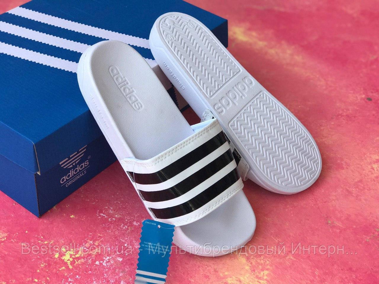 Шльопанці чоловічі білі Adidas / Сланці / шльопанці Adidas / шльопанці / адідас / білі