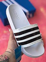 Шльопанці чоловічі білі Adidas / Сланці / шльопанці Adidas / шльопанці / адідас / білі, фото 3