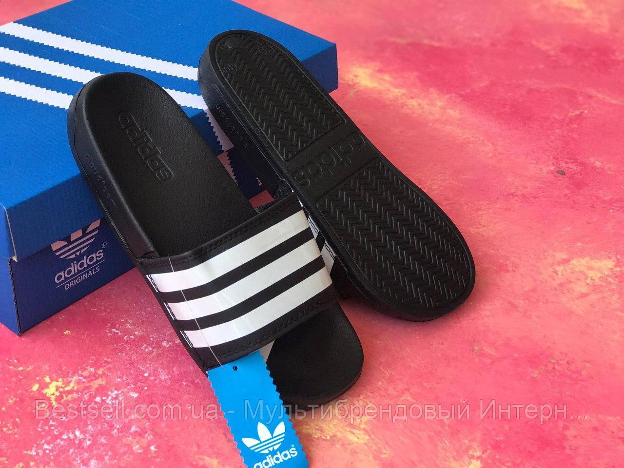 Шльопанці чоловічі чорні Adidas / Сланці / шльопанці Adidas /шльопанці / адідас / чорні