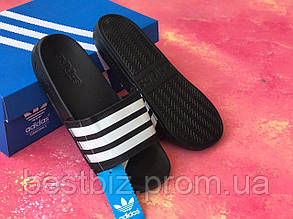 Шльопанці чоловічі чорні Adidas / Сланці / шльопанці Adidas /шльопанці / адідас / чорні, фото 2