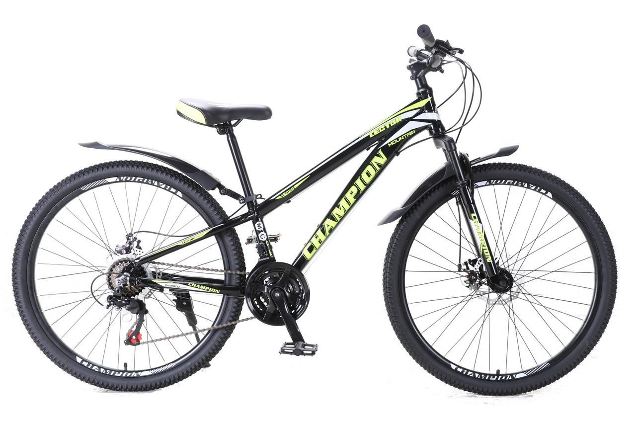 """Велосипед Champion Lector 26"""" алюмінієва рама 13"""" чорно-жовтий"""