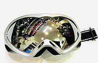 Гірськолижні окуляри дзеркальні сріблясті (подвійні лінзи), фото 1