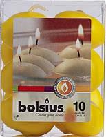 Плаваючі свічки Bolsius жовті 10 шт в подарунковій упаковці