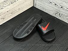 Шльопанці чоловічі чорні Nike / Сланці Nike (шльопанці,в'єтнамки), фото 3