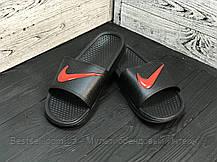 Шльопанці чоловічі чорні Nike / Сланці Nike (шльопанці,в'єтнамки), фото 2