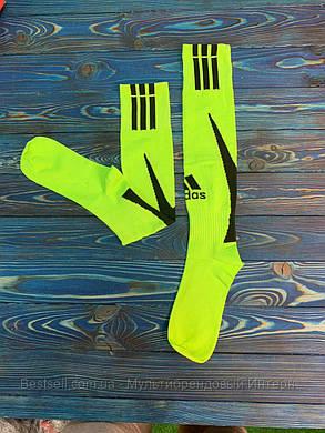 Гетры для футбола Adidas (Салатовые), фото 2