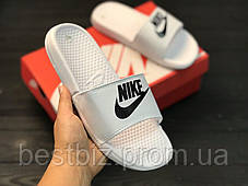 Шльопанці чоловічі білі Nike / Сланці Nike (шльопанці,в'єтнамки), фото 2
