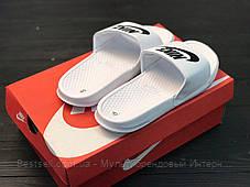 Шльопанці чоловічі білі Nike / Сланці Nike (шльопанці,в'єтнамки), фото 3