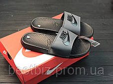 Шлепанцы мужские черные Nike / Сланцы Nike(шлепки,шлепанцы), фото 3