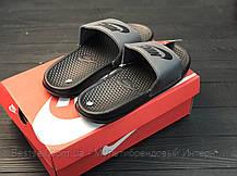 Шлепанцы мужские черные Nike / Сланцы Nike(шлепки,шлепанцы), фото 2