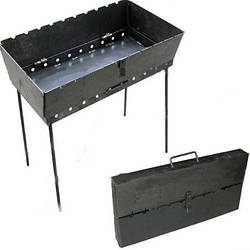 Мангал - валіза пр-під Україна розкладний на 8 шампурів метал 3 мм