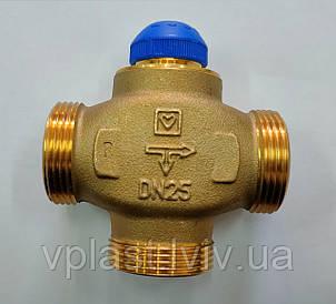 """Триходовий термостатичний розподільчий клапан Herz CALIS-TS-RD DN25 1""""(1776140)"""