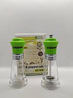Набор соль/перец MAESTRO MR-1626 зеленый   набор для специй Маэстро   солонка и перечница Маестро