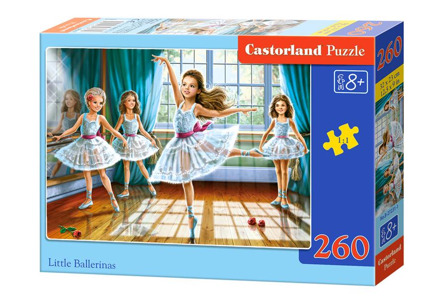 Пазлы Castorland на 260 элементов LITTLE BALLERINAS B-27231