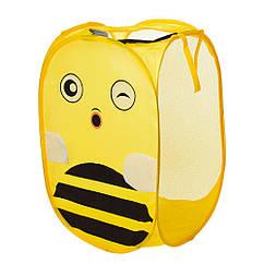Кошик для іграшок M 5767(Yellow) 34-34см, висота 58 см, 2 ручки