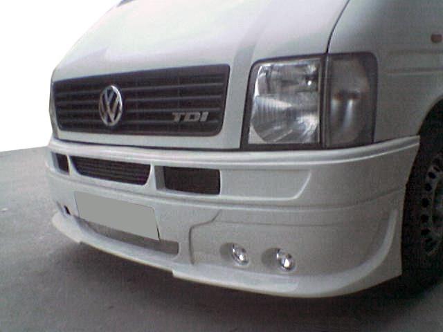 Передний бампер 4 фары (под покраску) Volkswagen LT 1998↗ гг. / Тюнинг переднего бампера Фольксваген ЛТ