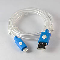 USB дата-кабель для Apple iPhone 5/6, светящийся (LED ), Синий /юсб провод /айфон