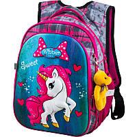 Шкільний рюкзак для дівчинки Winner R1-003 + брелок ведмедик, фото 1