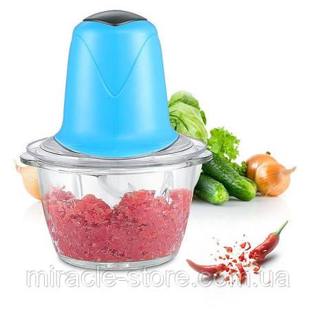 Измельчитель овощей фруктов и мяса 2L FOOD PROCESSOR A-04, фото 2