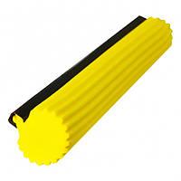 Губка для швабры Мій Дім SUPERMOP мягкая желтая 27 см