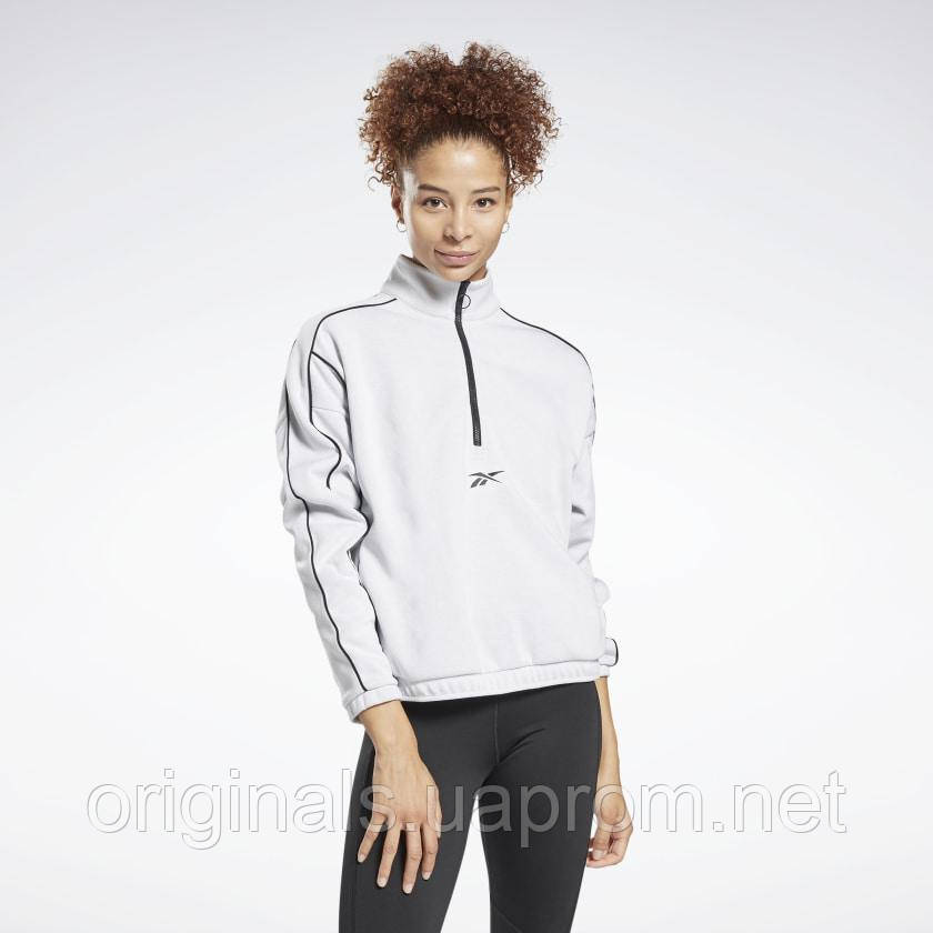 Реглан женский Reebok Workout Ready 1/4 Zip GI6838 2021