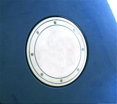 Накладка на лючок бензобака (нерж) Volkswagen Golf 4 / Накладки на кузов Фольксваген Гольф 4